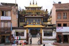 Monastery in Buddanath. Little Tibet of Nepal royalty free stock photography