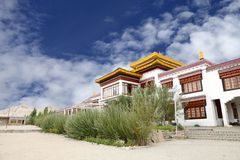 A Monastery in the campus of Druk White Lotus school Leh. Monastery inside Druk white Louts school also called as rancho school royalty free stock photos