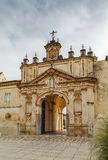 Monastery of the Cartuja Charterhouse, Seville, Spain. Monastery of the Cartuja Charterhouse is a religious building in Seville, Spain. Gate Royalty Free Stock Images