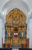 Monastery of the Cartuja Charterhouse, Seville, Spain. Monastery of the Cartuja Charterhouse is a religious building in Seville, Spain. Interior of church Royalty Free Stock Photo
