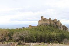 Monastery castle of Loarre (Huesca) Royalty Free Stock Photo