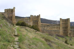 Monastery castle of Loarre (Huesca) Royalty Free Stock Image