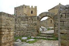 Monastery castle of Loarre (Huesca) Stock Photo