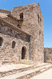 Monastery in Catalan Romanesque style Royalty Free Stock Image