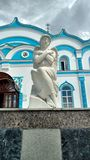 The monastery. The Cathedral in the monastery Royalty Free Stock Photography