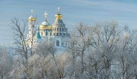 Monastery, cathedral, dome, Orthodoxy, cross, icons, shrines stock photo