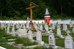 Monastery cemetery Stock Photo