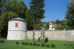 Monastery in Cetinje, Montenegro. Royalty Free Stock Photo