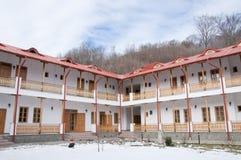Monastery chambers in Romania Stock Photos