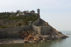 Monastery China yellow sea Royalty Free Stock Photo