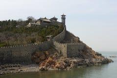 Monastery China yellow sea Royalty Free Stock Photo