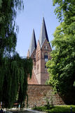 Monastery church of Neuruppin in Germany. Monastery church Saint Trinitatis in the city of Neuruppin in Brandenburg Stock Image