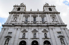 Monastery or Church of São Vicente of Fora in Lisbon, Portugal. Famous monastery of lisbon in portugal Stock Photography