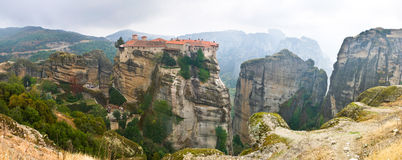 The monastery on the cliff royalty free stock photography