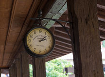 The monastery clock to Bachkovo Monastery royalty free stock image