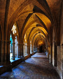 Monastery cloister. Cloister of Veruela Monastery in Aragon, cistercian style Royalty Free Stock Photos