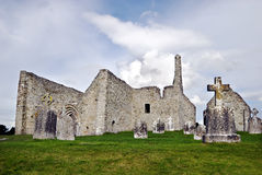 The monastery of Clonmacnoise. Cathedral and Temple Dowling, sometimes referred to as MacClaffey's Church Royalty Free Stock Images