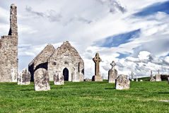 The monastery of Clonmacnoise. Ireland - Temple Dowling, sometimes referred to as MacClaffey's Church Stock Image