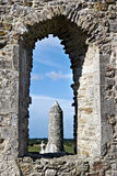 The monastery of Clonmacnoise Stock Photos