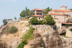 The monastery complex in Meteora. Greece Royalty Free Stock Photo