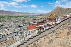 Monastery complex in Tibet Stock Photo