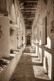 Monastery corridor Royalty Free Stock Image