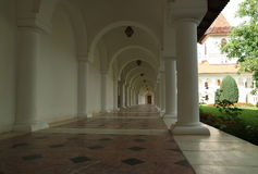 Monastery corridor Royalty Free Stock Photography