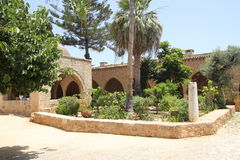 Monastery court yard Agia Napa Royalty Free Stock Photo