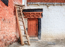 Monastery courtyard in Diskit Gompa Royalty Free Stock Images