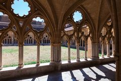 Monastery courtyard, gothic Royalty Free Stock Photos