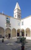 Monastery Courtyard in Piran Stock Photos
