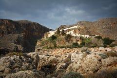 Monastery in Crete, Greece. Royalty Free Stock Image