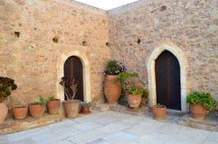 Monastery crete Stock Images