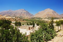 Monastery on Crete. View of the ruins of the monastery on Crete Stock Image