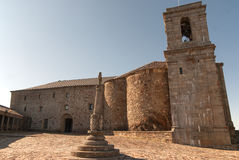 Monastery cross square. Francia Peak monastery Salamanca (Spain) (Europe Royalty Free Stock Photos