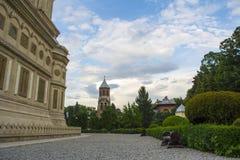 Curtea de Arges. The monastery Curtea de Arges in Arges, Romania Royalty Free Stock Image