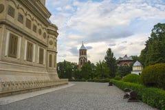 Curtea de Arges. The monastery Curtea de Arges in Arges, Romania Stock Photo