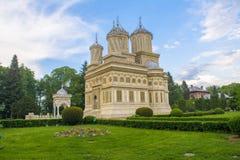 Curtea de Arges. The monastery Curtea de Arges in Arges, Romania Stock Photos