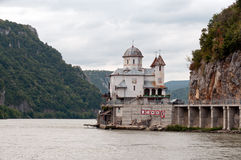 Monastery on Danube canyon Royalty Free Stock Photos
