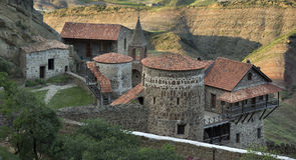 Monastery David Gareji in southern Georgia. Royalty Free Stock Image