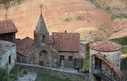 Monastery David Gareji in southern Georgia. Royalty Free Stock Photo