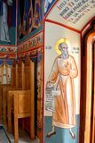 Wonderful orthodox icons. Saint Anna-Rohia monastery, situated in a natural and isolated place, in Maramures, Transylvania Royalty Free Stock Photography