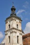 Monastery of Discalced Carmelites. Berdychiv. Monastery of Discalced Carmelites, bell tower. Berdychiv, Ukraine Stock Photo