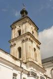 Monastery of Discalced Carmelites. Berdychiv. Monastery of Discalced Carmelites, bell tower. Berdychiv, Ukraine Stock Images