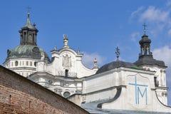 Monastery of Discalced Carmelites. Berdychiv. Monastery of Discalced Carmelites, Church of the Immaculate Conception. Berdychiv, Ukraine Stock Images