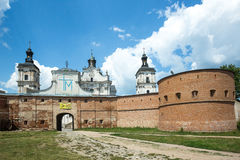 Monastery of Discalced Carmelites in Berdychiv, Ukraine. Monastery of Discalced Carmelites with Church of the Immaculate Conception in Berdychiv, Ukraine Stock Photo