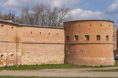 Monastery of Discalced Carmelites. Berdychiv. Walls of Monastery of Discalced Carmelites. Berdychiv, Ukraine Stock Photo