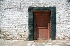 Monastery Door. Detail of tibetan door, Monastery of Thikse, Ladakh, ndia Royalty Free Stock Photos