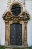 Monastery door. Metal door to the monastery Royalty Free Stock Photo