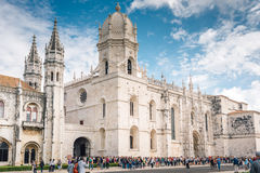 Monastery Dos Jeronimos - Lisbon, Portugal stock images
